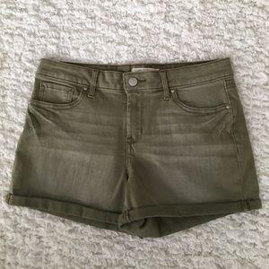 Jessica Simpson Green Denim Shorts